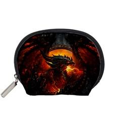 Dragon Legend Art Fire Digital Fantasy Accessory Pouches (small)