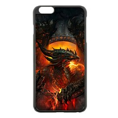 Dragon Legend Art Fire Digital Fantasy Apple Iphone 6 Plus/6s Plus Black Enamel Case