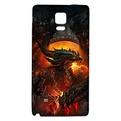 Dragon Legend Art Fire Digital Fantasy Galaxy Note 4 Back Case