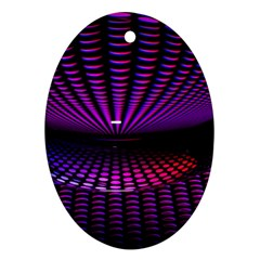 Glass Ball Texture Abstract Ornament (oval)