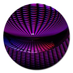 Glass Ball Texture Abstract Magnet 5  (round)