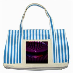 Glass Ball Texture Abstract Striped Blue Tote Bag