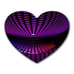 Glass Ball Texture Abstract Heart Mousepads