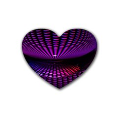 Glass Ball Texture Abstract Heart Coaster (4 Pack)