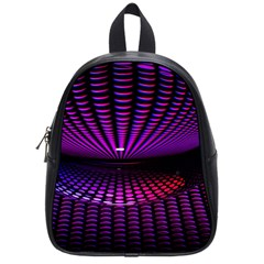 Glass Ball Texture Abstract School Bags (small)