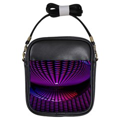 Glass Ball Texture Abstract Girls Sling Bags