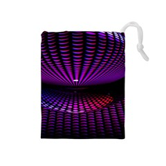 Glass Ball Texture Abstract Drawstring Pouches (medium)