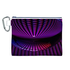 Glass Ball Texture Abstract Canvas Cosmetic Bag (l)