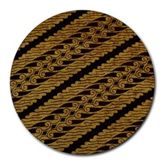 Traditional Art Indonesian Batik Round Mousepads
