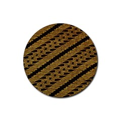 Traditional Art Indonesian Batik Rubber Coaster (round)