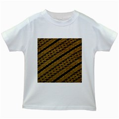 Traditional Art Indonesian Batik Kids White T Shirts