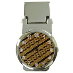 Traditional Art Indonesian Batik Money Clip Watches Front