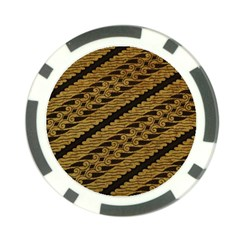 Traditional Art Indonesian Batik Poker Chip Card Guard