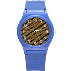 Traditional Art Indonesian Batik Round Plastic Sport Watch (s)