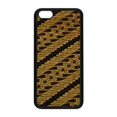 Traditional Art Indonesian Batik Apple Iphone 5c Seamless Case (black)