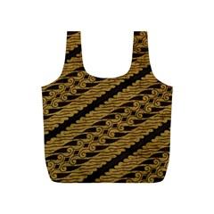 Traditional Art Indonesian Batik Full Print Recycle Bags (s)