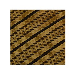 Traditional Art Indonesian Batik Small Satin Scarf (square)