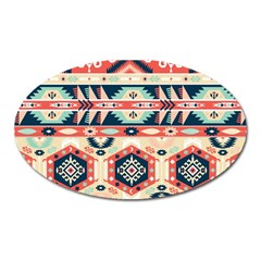 Aztec Pattern Oval Magnet