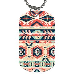 Aztec Pattern Dog Tag (one Side)