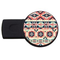 Aztec Pattern Usb Flash Drive Round (2 Gb)