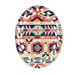 Aztec Pattern Ornament (oval Filigree)