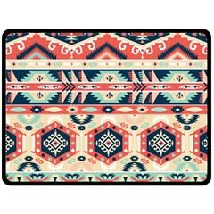Aztec Pattern Double Sided Fleece Blanket (large)