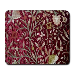 Crewel Fabric Tree Of Life Maroon Large Mousepads