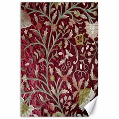 Crewel Fabric Tree Of Life Maroon Canvas 20  X 30