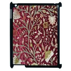 Crewel Fabric Tree Of Life Maroon Apple Ipad 2 Case (black)