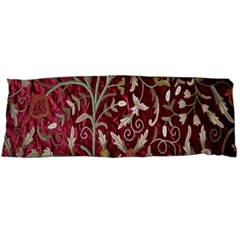 Crewel Fabric Tree Of Life Maroon Body Pillow Case Dakimakura (two Sides)
