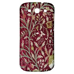 Crewel Fabric Tree Of Life Maroon Samsung Galaxy S3 S Iii Classic Hardshell Back Case