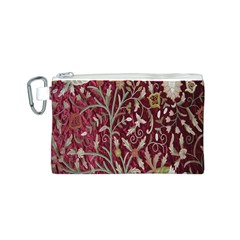 Crewel Fabric Tree Of Life Maroon Canvas Cosmetic Bag (s)