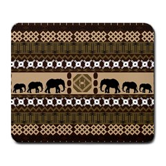Elephant African Vector Pattern Large Mousepads