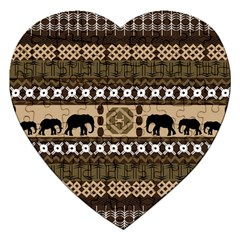 Elephant African Vector Pattern Jigsaw Puzzle (heart)