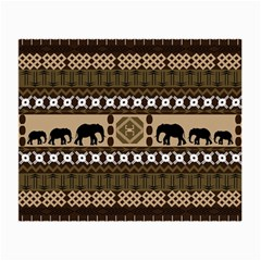 Elephant African Vector Pattern Small Glasses Cloth
