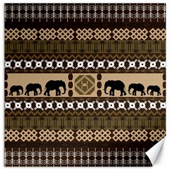 Elephant African Vector Pattern Canvas 16  X 16