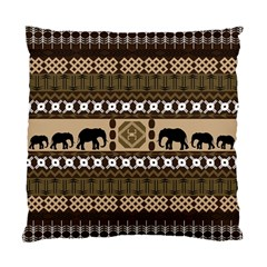 Elephant African Vector Pattern Standard Cushion Case (one Side)