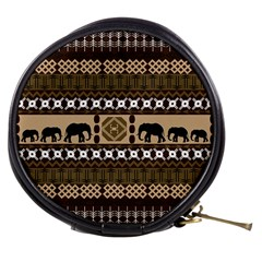 Elephant African Vector Pattern Mini Makeup Bags