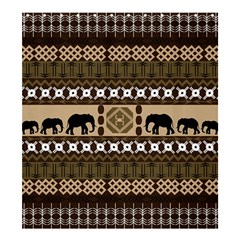Elephant African Vector Pattern Shower Curtain 66  X 72  (large)