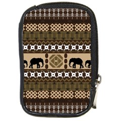 Elephant African Vector Pattern Compact Camera Cases