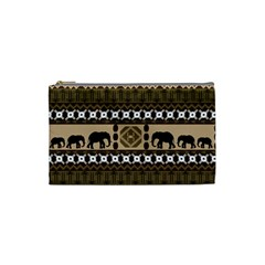 Elephant African Vector Pattern Cosmetic Bag (small)