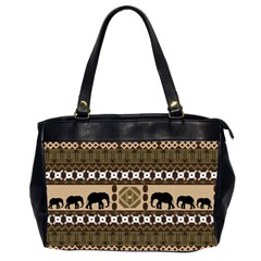 Elephant African Vector Pattern Office Handbags (2 Sides)
