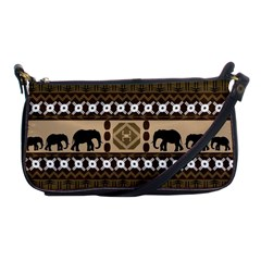 Elephant African Vector Pattern Shoulder Clutch Bags
