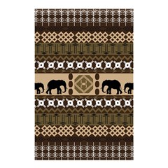 Elephant African Vector Pattern Shower Curtain 48  X 72  (small)