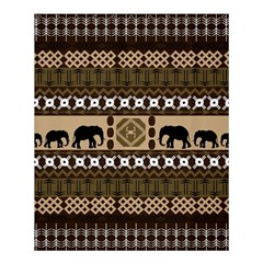 Elephant African Vector Pattern Shower Curtain 60  X 72  (medium)