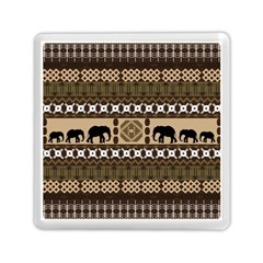 Elephant African Vector Pattern Memory Card Reader (square)