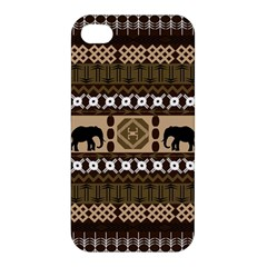 Elephant African Vector Pattern Apple Iphone 4/4s Hardshell Case