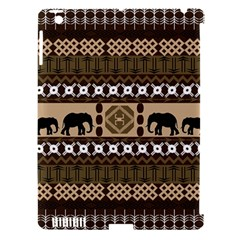 Elephant African Vector Pattern Apple Ipad 3/4 Hardshell Case (compatible With Smart Cover)