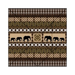 Elephant African Vector Pattern Acrylic Tangram Puzzle (6  X 6 )