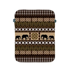 Elephant African Vector Pattern Apple Ipad 2/3/4 Protective Soft Cases